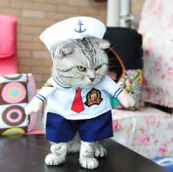 pet cat costumes costume for small cat sailor policeman solider
