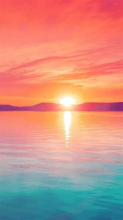 Pastel Sunset Iphone Mountain Lake Nature Iphonewalls