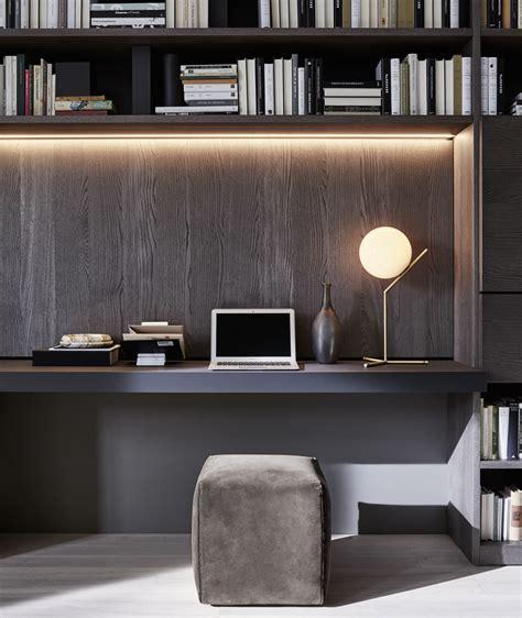 librerie molteni built in workspace interior design modern home offices