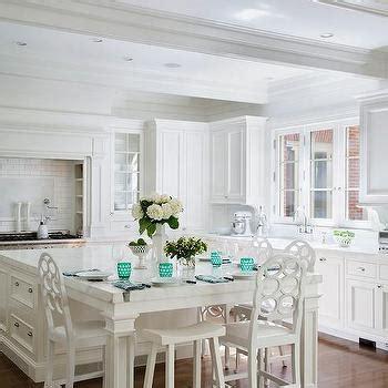 white kitchen  teal accents design ideas