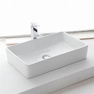 Vasque Poser Rectangulaire 61x37 Cm Cramique Orba