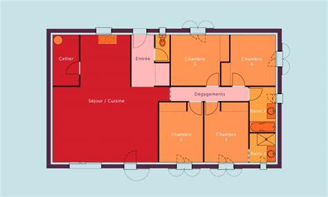 maison 3 chambres plain pied plan maison 120m2 plain pied plan de maison plein pied 3d