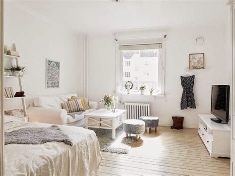 bed layout living decor studio appartement meuble