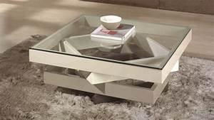 Table Basse Moderne : table de salon moderne en verre et bois mdf hana gdegdesign ~ Preciouscoupons.com Idées de Décoration