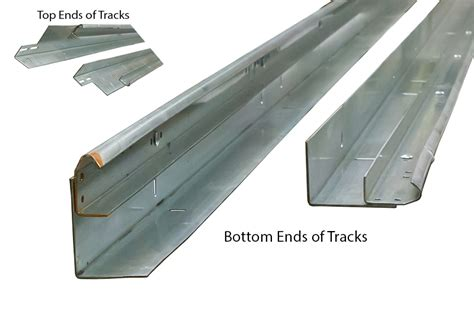 garage door track parts 2 quot vertical track with angle for 12 high doors pair