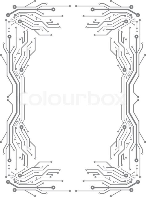 frame  pcb layout style stock vector colourbox
