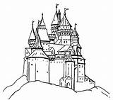 Castle Coloring Clipart Pages Library Clip sketch template