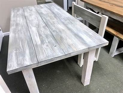 Farmhouse Wash Bench Gray Rustic Wooden Dining