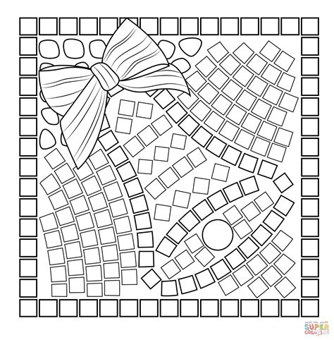 mosaic templates bell mosaic coloring page free printable coloring pages