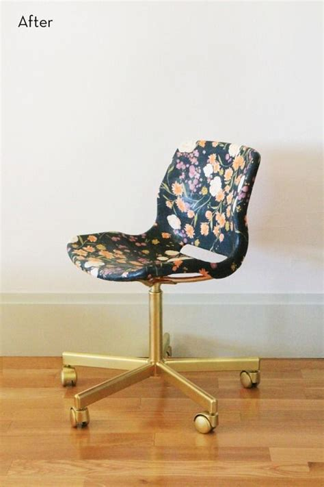 ikea hack snille swivel chair goes from mod to feminine