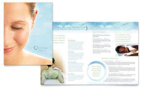 day spa resort brochure template design
