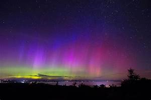 northern lights from acadia national park in maine