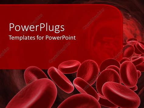 powerpoint template  red blood cells