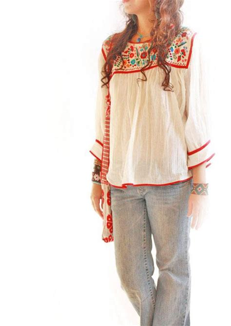 bohemian blouses dominga embroidered boho hippie chic blouse cotton