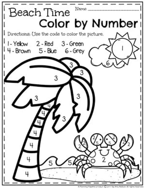 Summer Preschool Worksheets  Planning Playtime