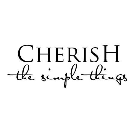 cherish simple things wall quotes decal wallquotes com