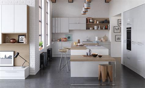Zola Gloss Contemporary White & Light Grey  Kitchen Stori