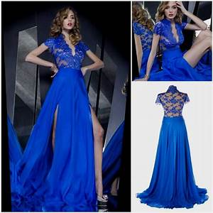 royal blue lace prom dresses Naf Dresses