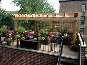 Toit Pergola Bois : 20 id es pour la pergola design sur le toit ~ Dode.kayakingforconservation.com Idées de Décoration