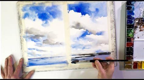 ganz einfach malen lernen  wolken im aquarell youtube