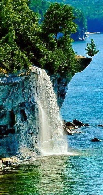 Spray Falls ~ Pictured Rocks National Lakeshore Between