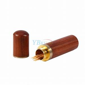 1PC Portable Rosewood Wood Wooden Toothpick Holder Box