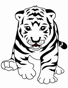 Cute Baby Tiger Coloring Page H U0026 M Coloring Pages