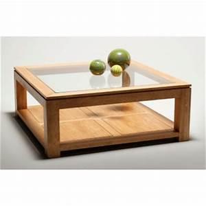 Table Basse Carrée Verre : table basse carree bois verre comparer les prix sur ~ Teatrodelosmanantiales.com Idées de Décoration