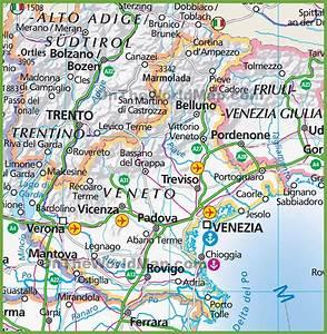 Large map of Veneto