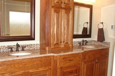 bathroom oak cabinets design remodel decor and ideas bathroom remodel