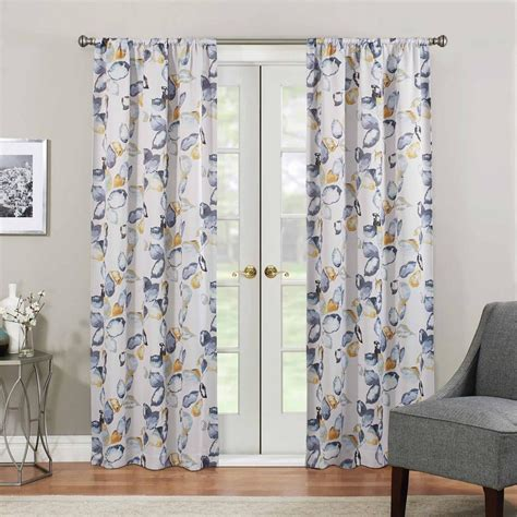 yellow blackout curtains eclipse blackout 84 in l yellow rod pocket curtain