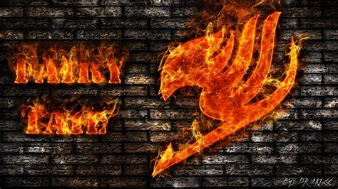 fire fairy tail bricks anime logos brick wall