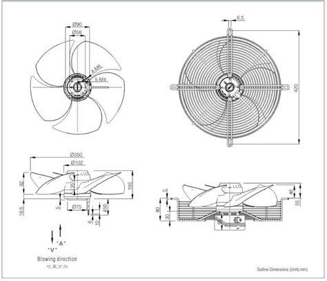 ventilateur chambre froide 4 ou 6 pôles 1400 tr min du ventilateur de condenseur pour