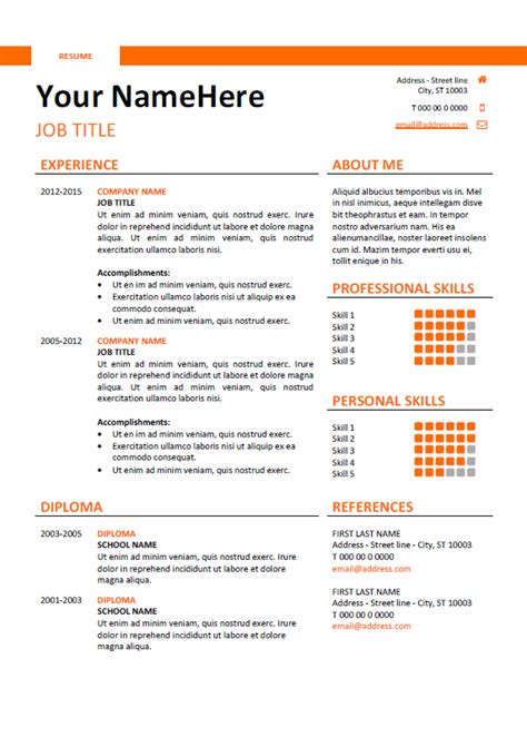 Free downloads of word doc resume templates for all job types here. Montjuic - Clean and Simple Resume Template | Simple ...