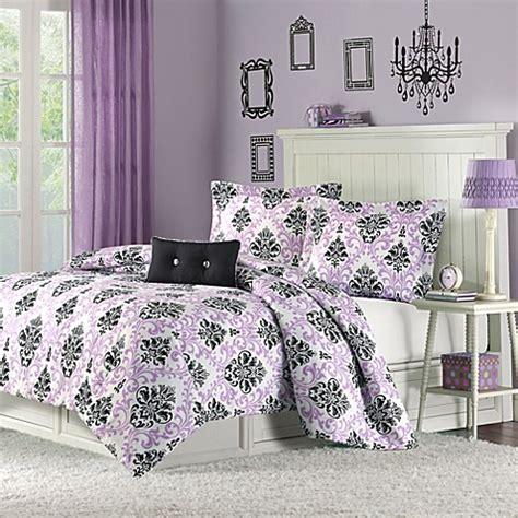 buy mizone katelyn full queen comforter set in purple from