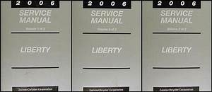 2006 Jeep Liberty Repair Shop Manual Original 3 Vol  Set