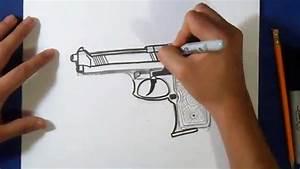 Vidéo De Pistolet : comment dessiner pistolet youtube ~ Medecine-chirurgie-esthetiques.com Avis de Voitures