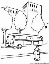 Bus Coloring Sheet Stop Colormountain sketch template