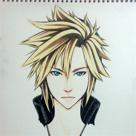 People interested in cloud ff7 drawing also searched for. Cloud Strife Final Fantasy VII Advent Children by ...