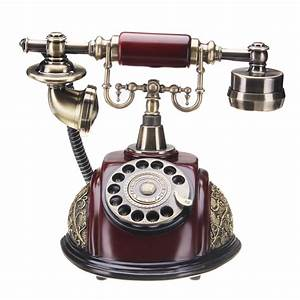 Vintage Antique Style Rotary Phone Fashioned Retro Handset