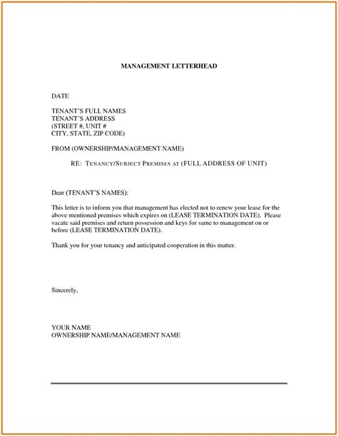 Lease Renewal Letter Template Examples | Letter Template Collection
