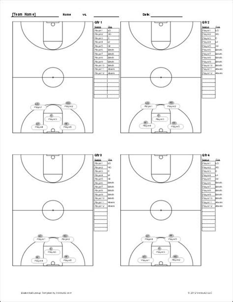 basketball lineup sheet screenshot basketball schedule