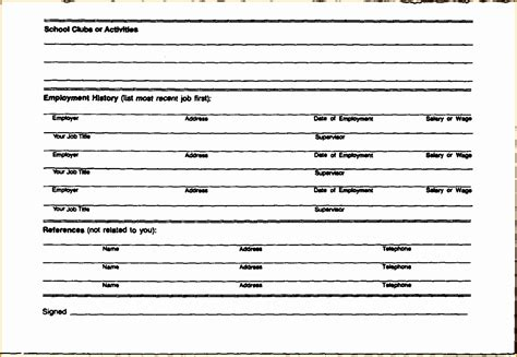 Blank Curriculum Vitae by 9 Blank Resume Forms To Fill Out Free Sles Exles