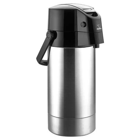 zojirushi stainless steel lined air pot beverage dispenser  cutlery