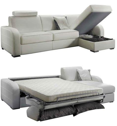 canapé convertible 2 places couchage quotidien canapé d 39 angle convertible réversible en cuir qualité