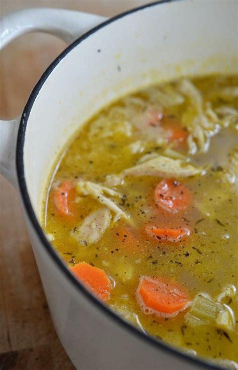 easy chicken soup recipe  lemon  pepper