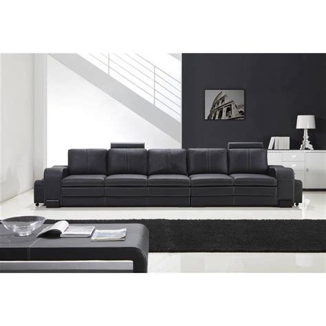grand canape grand canapé droit en cuir pleine fleur fabio 5 places