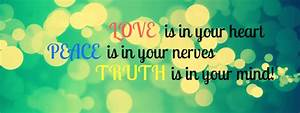 Love Peace and Truth Facebook Covers