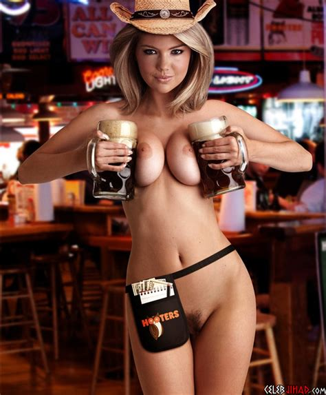 kate upton poses completely nude for hooters super bowl ad