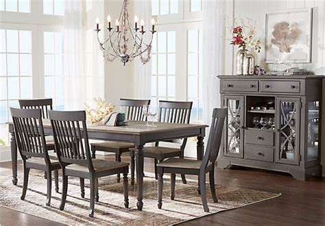 cindy crawford home ocean grove gray  pc dining room dining room sets colors